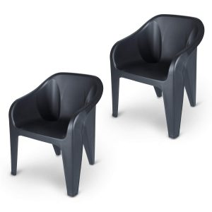 Plastic chairs for outdoor